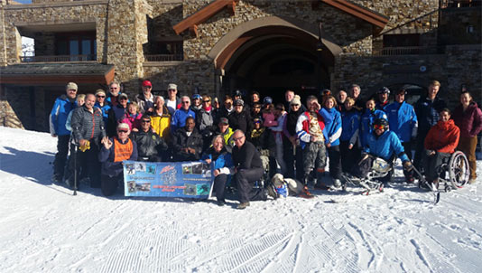 VAS Skiers and Family with TASP Instructors and Volunteers 2016