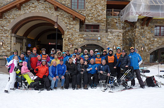 VAS Skiers and Family with TASP Instructors and Volunteers 2017
